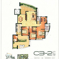 紫云台185㎡户型5房2厅2卫