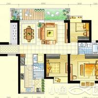 新天城市广场1-2#楼122㎡户型