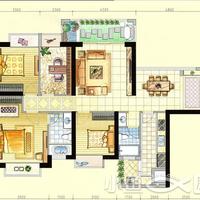 新天城市广场1-2#楼128㎡户型