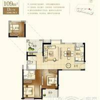 建发珑玥湾建筑面积约109㎡三房两厅两卫