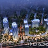 晋江宝龙城市广场夜景鸟瞰效果图