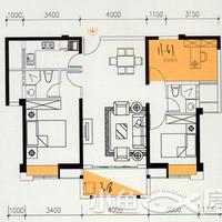 卓辉海港城8#楼06单元2房2厅2卫1阳台