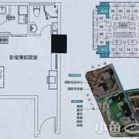 晋江宝龙城市广场公寓1#楼A户型47㎡