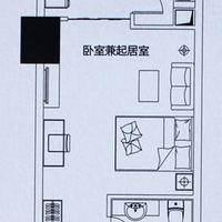晋江宝龙城市广场公寓1#楼B户型45㎡