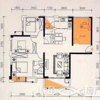 卓辉海港城8#楼07单元3房2厅2卫2阳台
