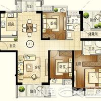 建发珑玥湾A1户型4房2厅2卫139㎡