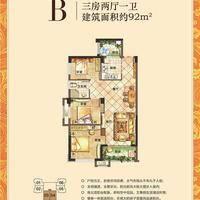 联发欣悦湾B户型:91m²三房两厅一卫.jpg