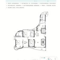 海悦府D户型 199㎡四房两厅三卫